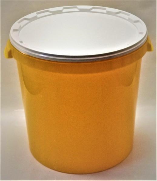 Gelber Hobbock für 40 kg Honig ohne Aufdruck