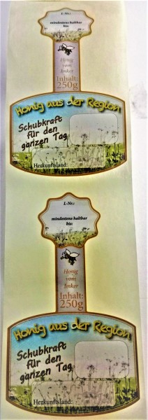 Rollenetikett Blüte für das 250g Honigglas