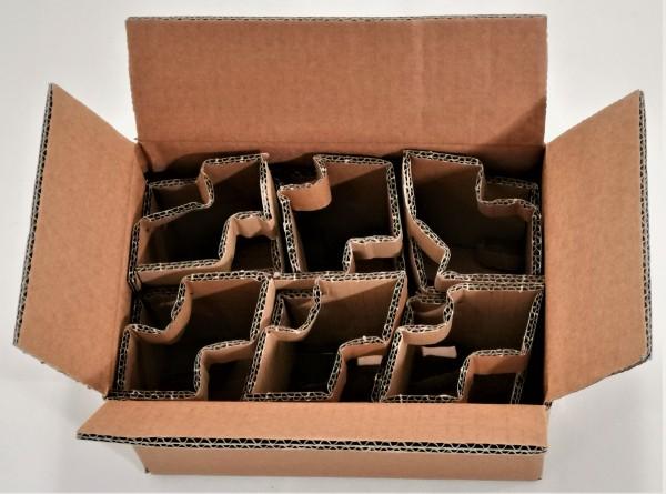 Honigversandkartons mit Einlagen für 6 x 250 g Gläser