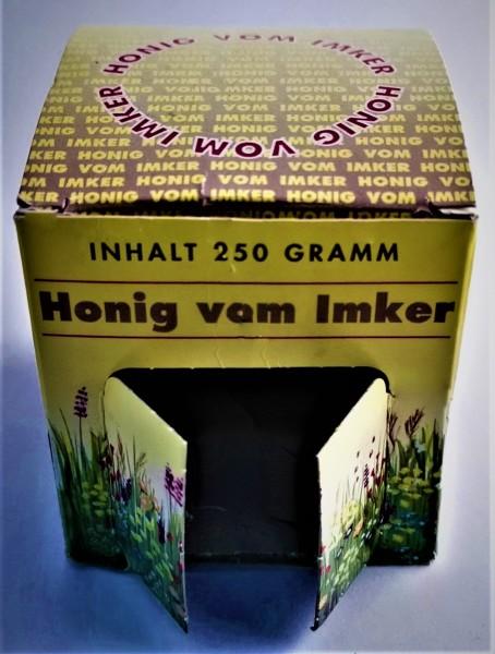 Geschenkkarton für 250 g Glas Honig