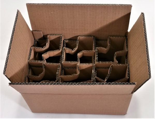 Honigversandkartons mit Einlagen für 6 x 500 g Gläser