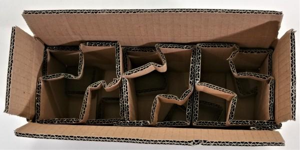 Honigversandkartons mit Einlagen für 3 x 250 g Gläser