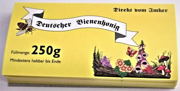 Honigglasetikett für 250g