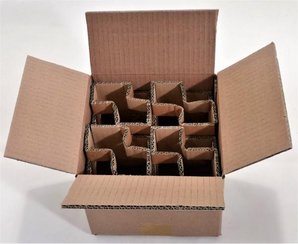 Honigversandkartons mit Einlagen für 4 x 500 g Gläser