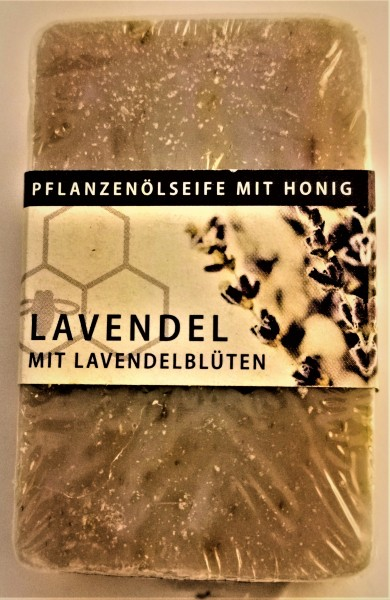 Lavendel Honigseife mit Lavendelblüten