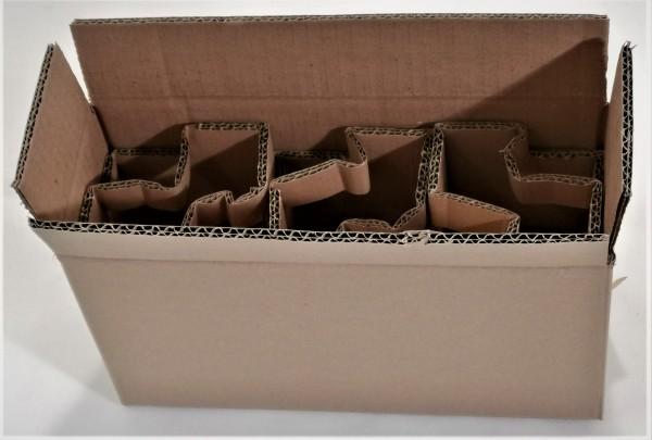 Honigversandkartons mit Einlagen für 3 x 500 g Gläser