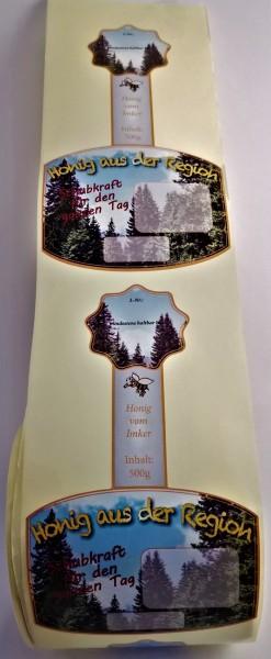 Rollenetikett Wald für das 500g Honigglas
