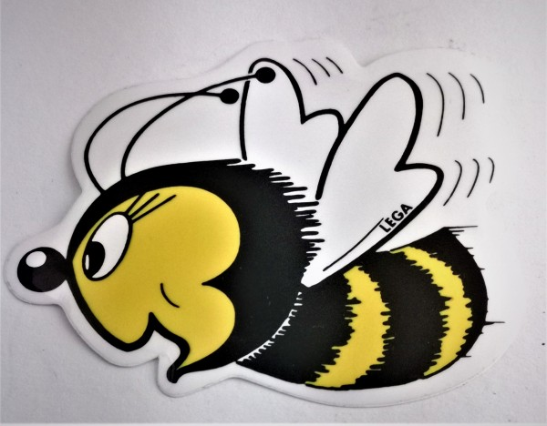 Aufkleber Biene in groß