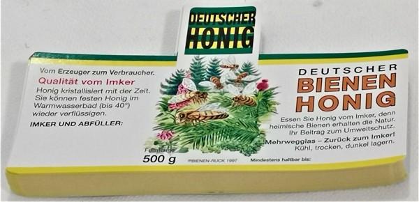 Honigetikett nassklebend Flores Wald für 500 g
