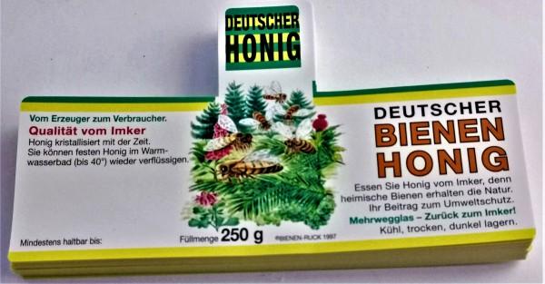 Honigetikett nassklebend Flores Wald für 250 g
