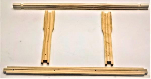 EWG® Rähmchen in Teilen Zandermaß 220 mm, Hoffmann-Seiten