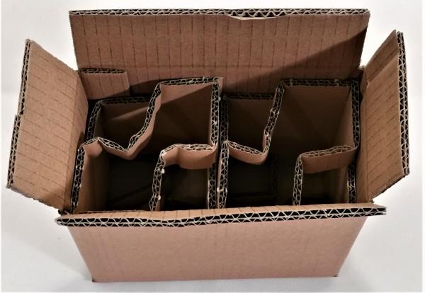 Honigversandkartons mit Einlagen für 2 x 500 g Gläser
