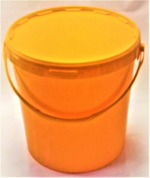 Gelber Eimer für 25 kg Honig ohne Aufdruck