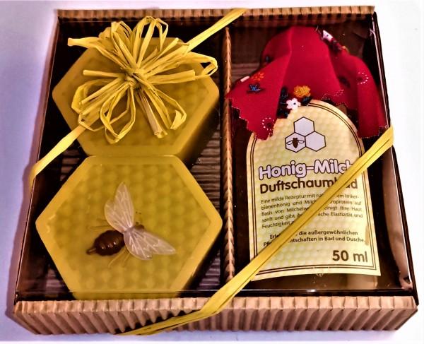 Geschenkpaket Honig-Wabenseif