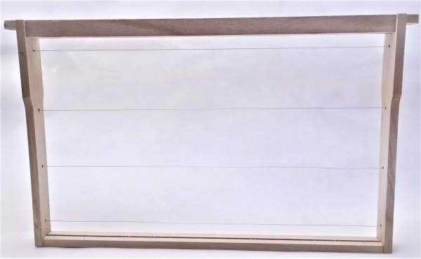 EWG® Rähmchen gedrahtet Dadant US 285 mm, Hoffmann-Seiten